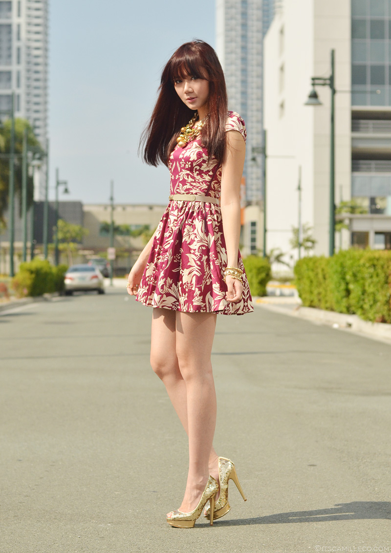 Young asian woman sitting in car short skirt stock photo